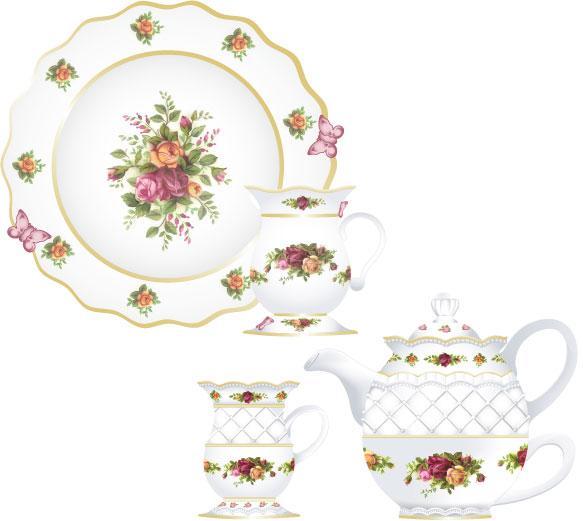 Doultan China Tea Set