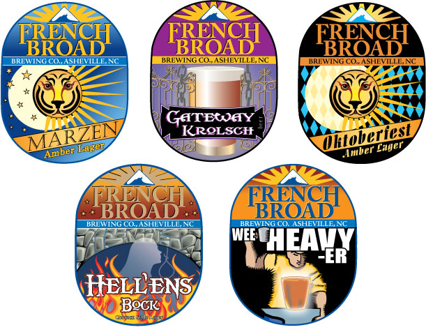 French Broad Brewery Labels